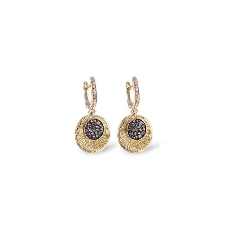 Allison-Kaufman 14k Yellow Gold Diamond Earrings