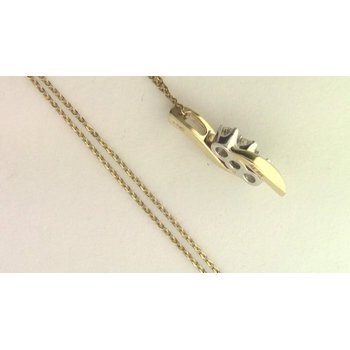 14k White And Yellow Gold Diamond Pendant