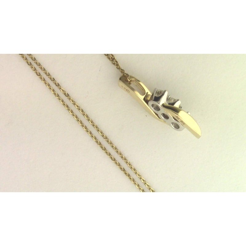 Pugh's Signature 14k White And Yellow Gold Diamond Pendant