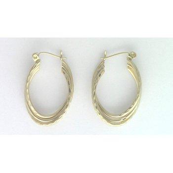 14k Yellow Gold Estate Earrings