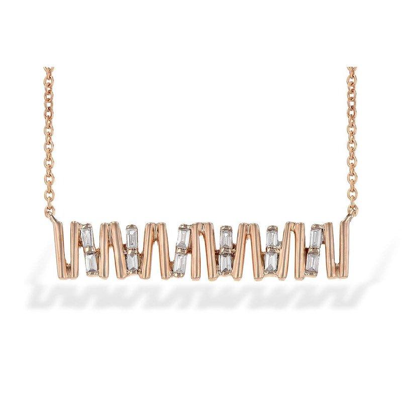 Allison-Kaufman 14k Rose Gold Diamond Pendant