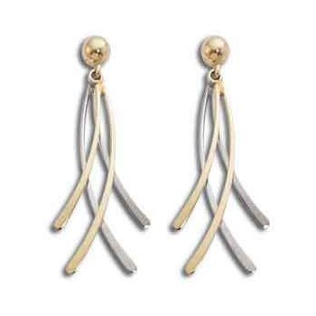 14k White And Yellow Gold Estate Earrings