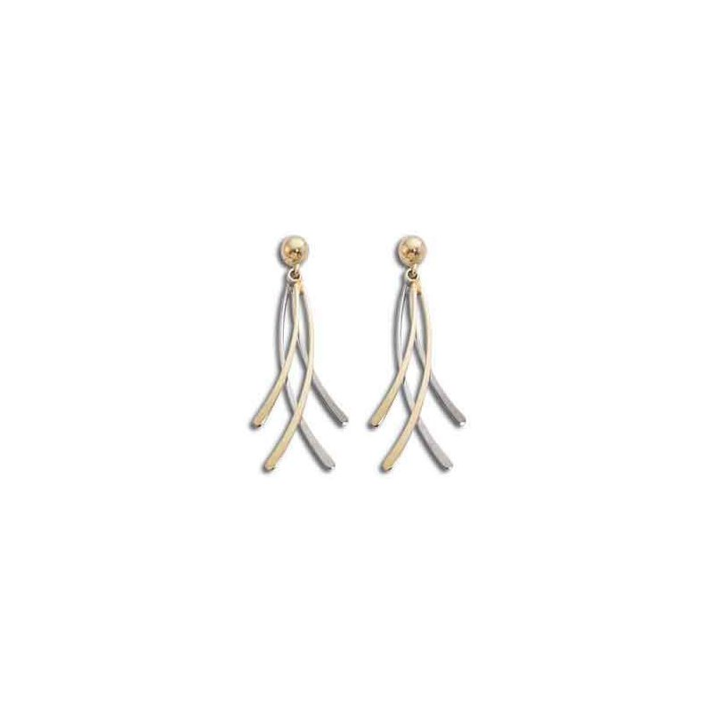Pugh's Signature 14k White And Yellow Gold Estate Earrings