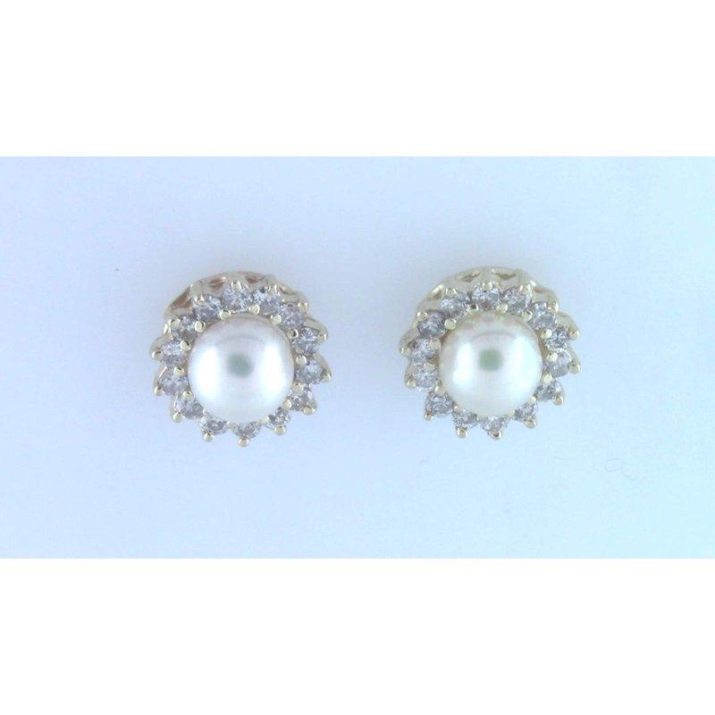 Pugh's Signature 14k Yellow Gold Pearl Earrings