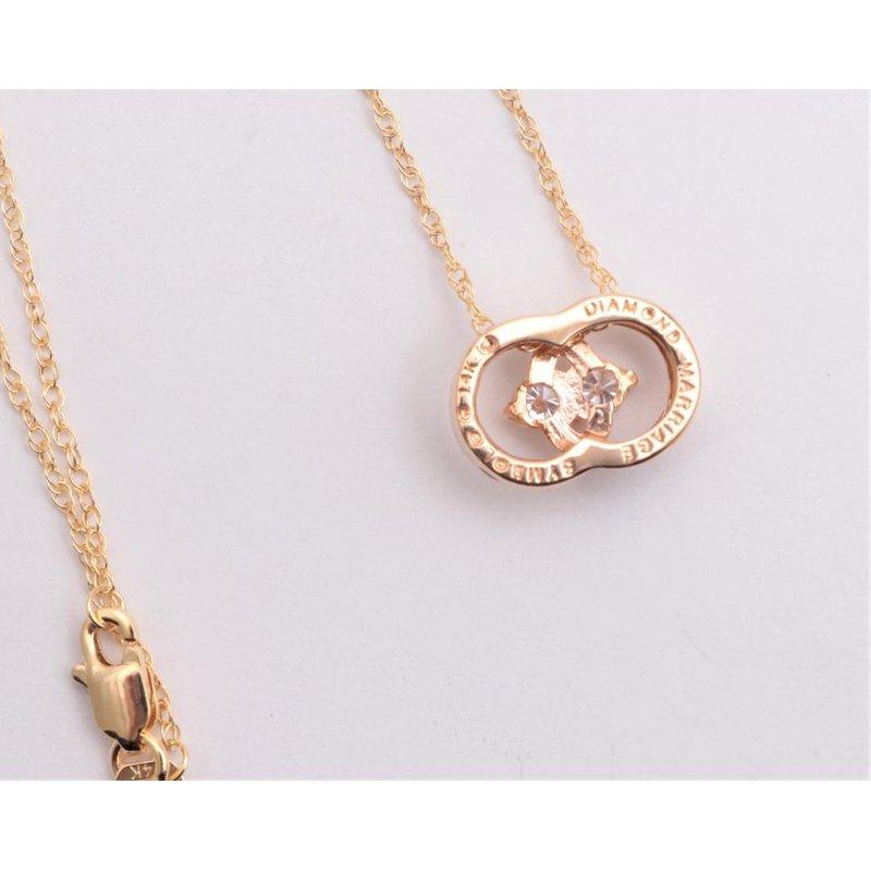 Ostbye Ladies' 14k Yellow Gold Diamond Pendant