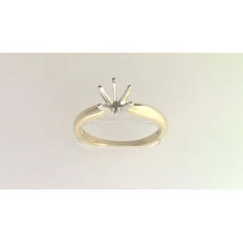 14k Yellow Gold (no Major Stone Currently) Ring Mounting