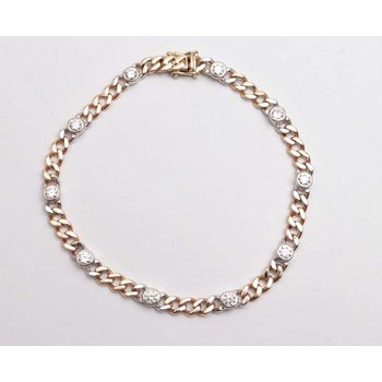 14k White And Yellow Gold Diamond Bracelet