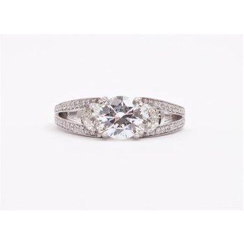 14k White Gold 6.5 Mm CZ Ring
