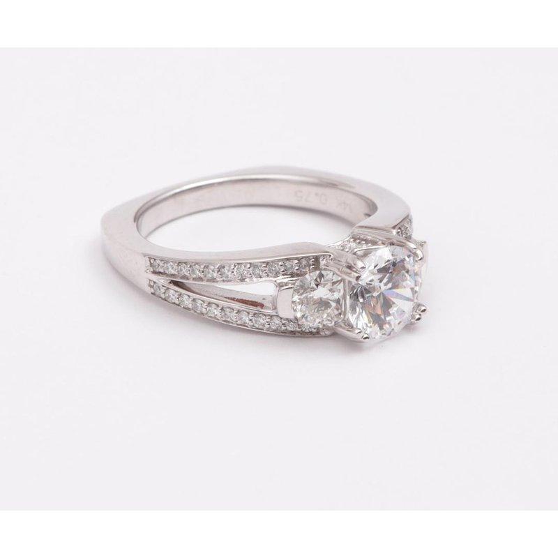 Pugh's Signature 14k White Gold 6.5 Mm CZ Ring