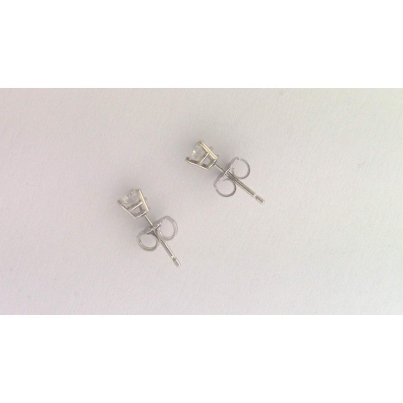 Pugh's Signature 18k White Gold Diamond Earrings