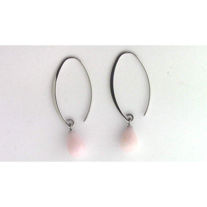 Pugh's Signature Sterling Pink Opal Earrings