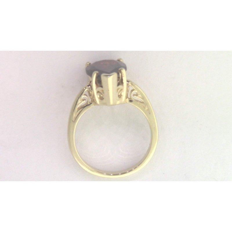 Pugh's Signature 14k Yellow Gold Garnet Ring