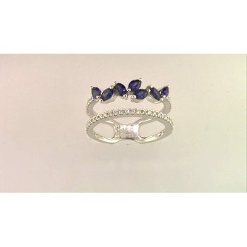 Ladies' 14k White Gold Sapphire Ring
