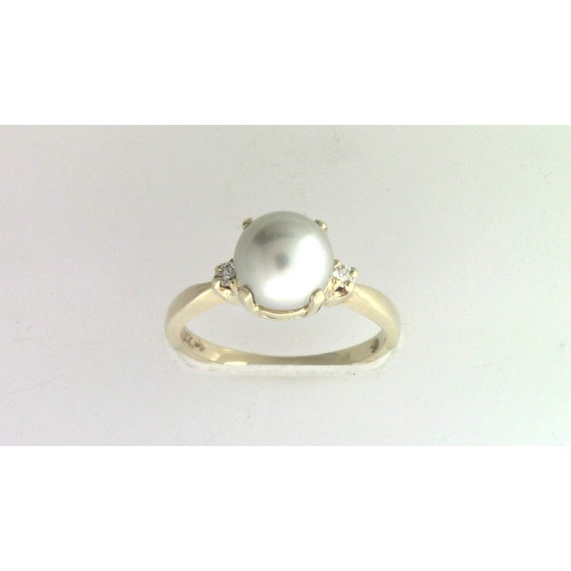 Pugh's Signature 14k Yellow Gold Pearl Ring