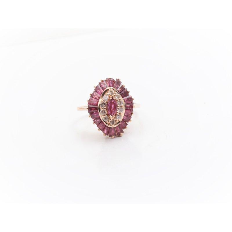 Pugh's Signature Ladies' 14k Yellow Gold Ruby Ring