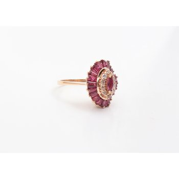 Ladies' 14k Yellow Gold Ruby Ring