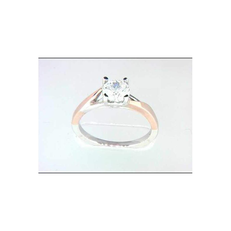 Pugh's Signature 14kt White and Rose Gold Ring Mounting