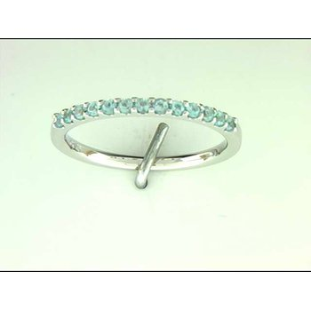 Ladies' 14k White Gold Blue Topaz Ring