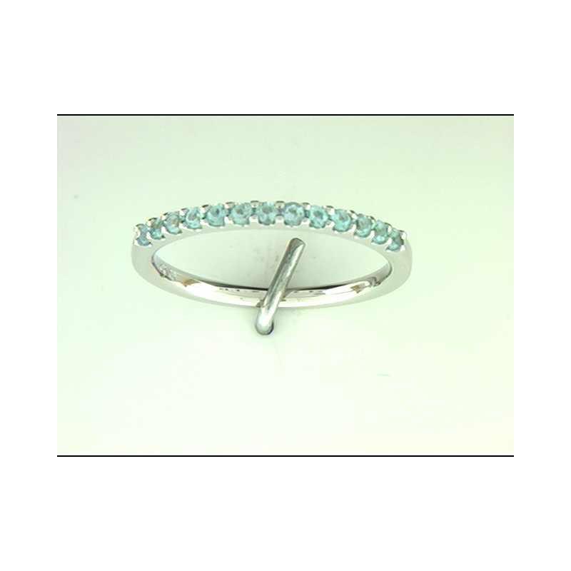Ostbye Ladies' 14k White Gold Blue Topaz Ring