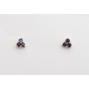 14k Yellow Gold Sapphire Earrings