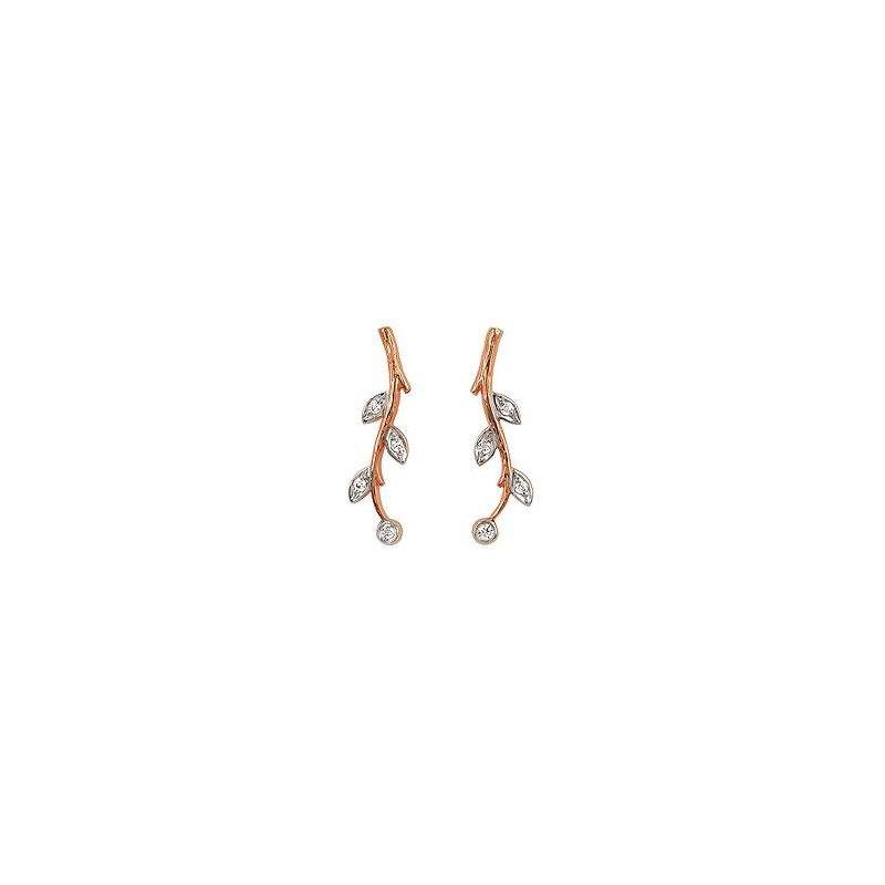 Ostbye Ladies' 14k Rose Gold Diamond Earrings