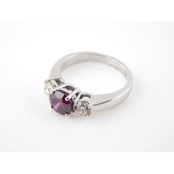 Purple Red Diamond Ring