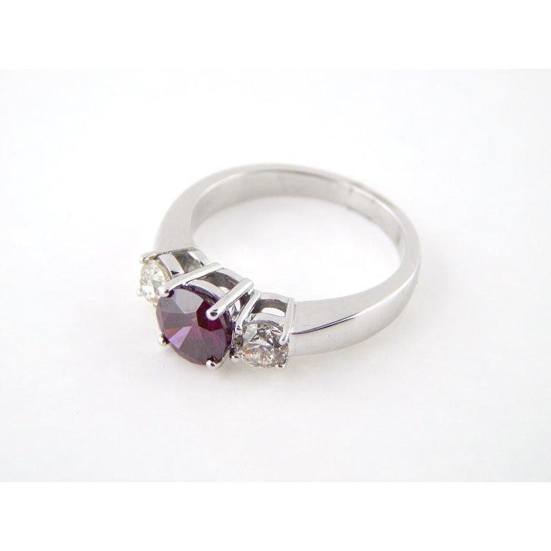 Purple Red Diamond Ring