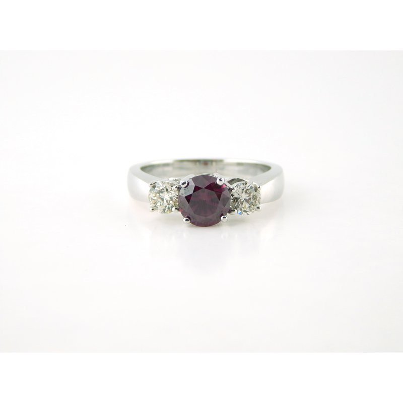 WS Creations Purple Red Diamond Ring