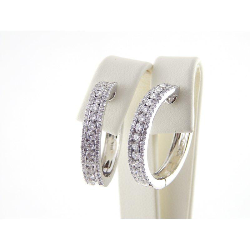 WS Creations Diamond Hoops