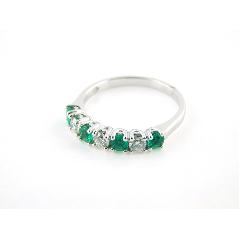 WS Creations Emerald and Diamond Band