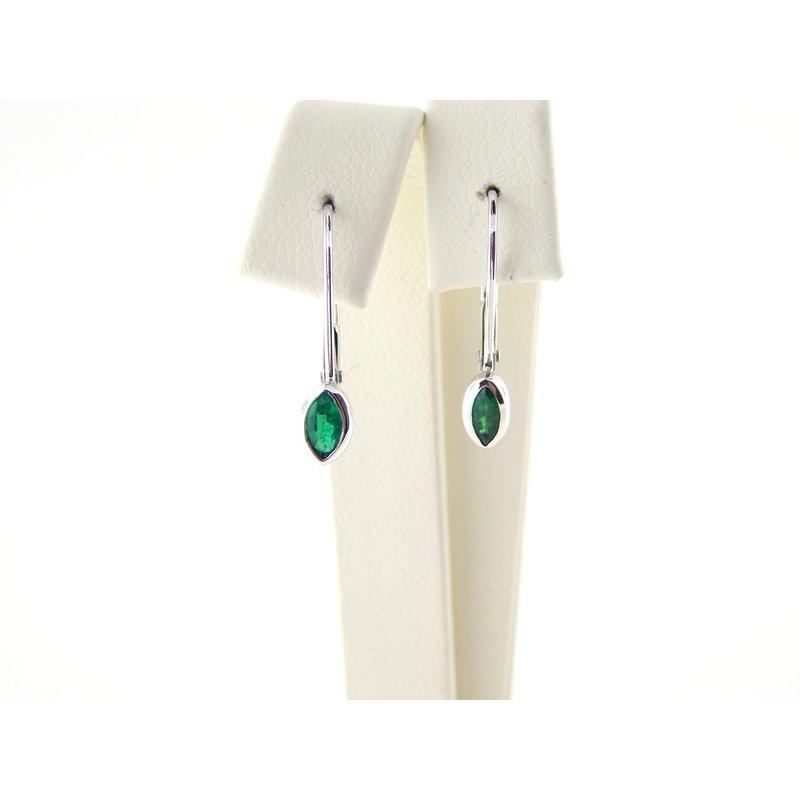 WS Creations Emerald Earrings