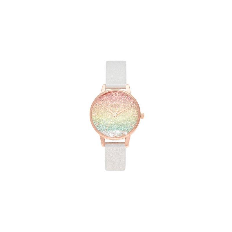 Olivia Burton Rainbow Wishing Watch Midi Dial Pearl & Rose Gold Watch