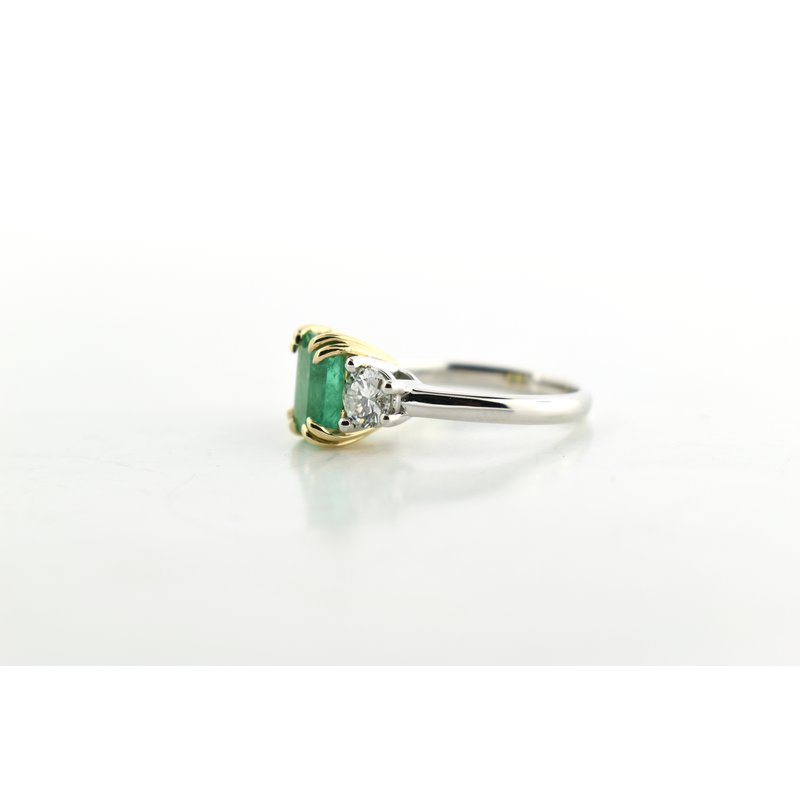 WS Creations Emerald and Diamond Ring
