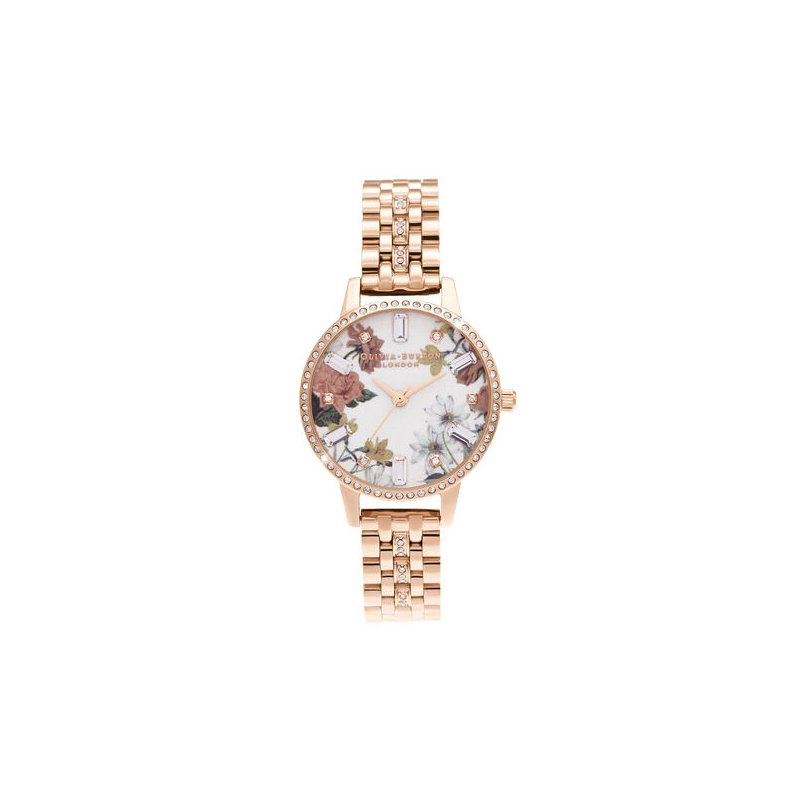 Olivia Burton Midi Rose Gold Sparkle Bracelet Watch