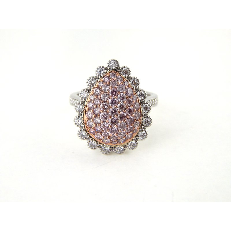 WS Creations Natural Pink diamond Cluster