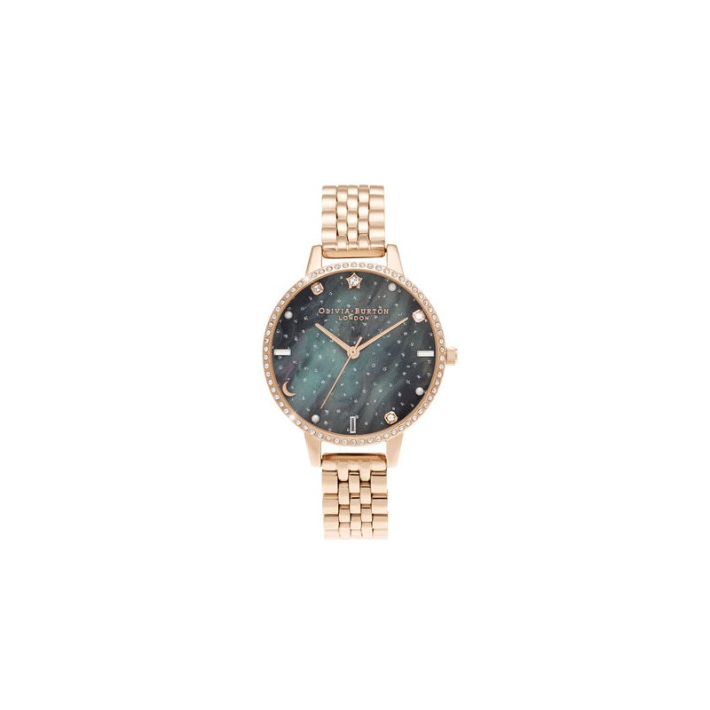 Olivia Burton Northern Lights Demi Dial Rose Gold Bracelet Watch