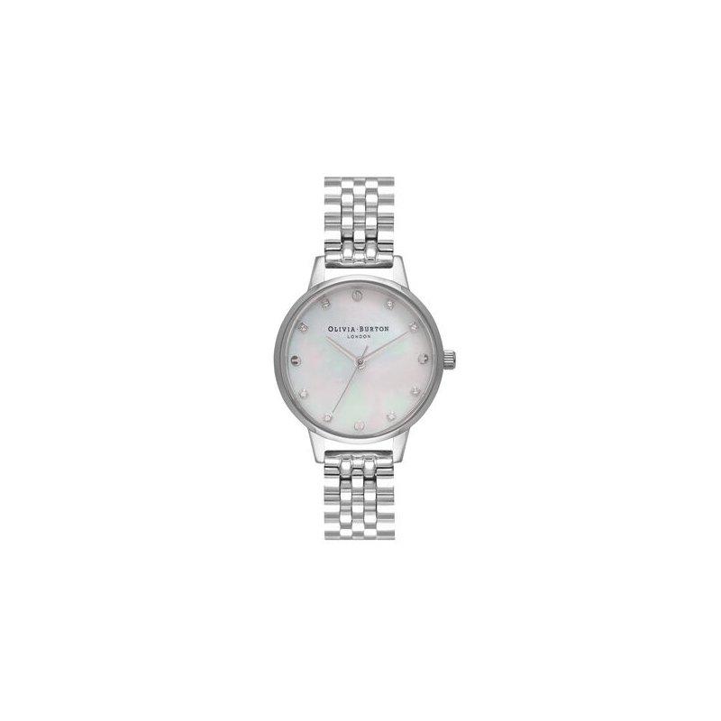Olivia Burton Midi Classic Pearl Dial Silver Bracelet Watch
