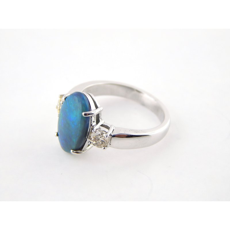 WS Creations Black Opal Ring