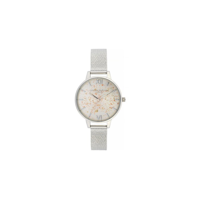 Olivia Burton Celestial Demi Dial Watch With Boucle Mesh