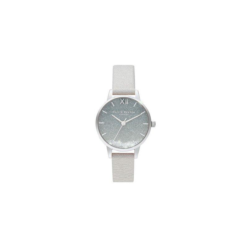 Olivia Burton Wishing Watch, Glitter, Gray & Silver Watch