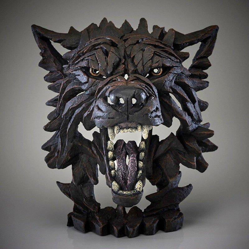 Edge Sculpture Wolf Bust