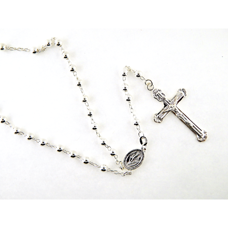 WS Creations Sterling Silver Rosary