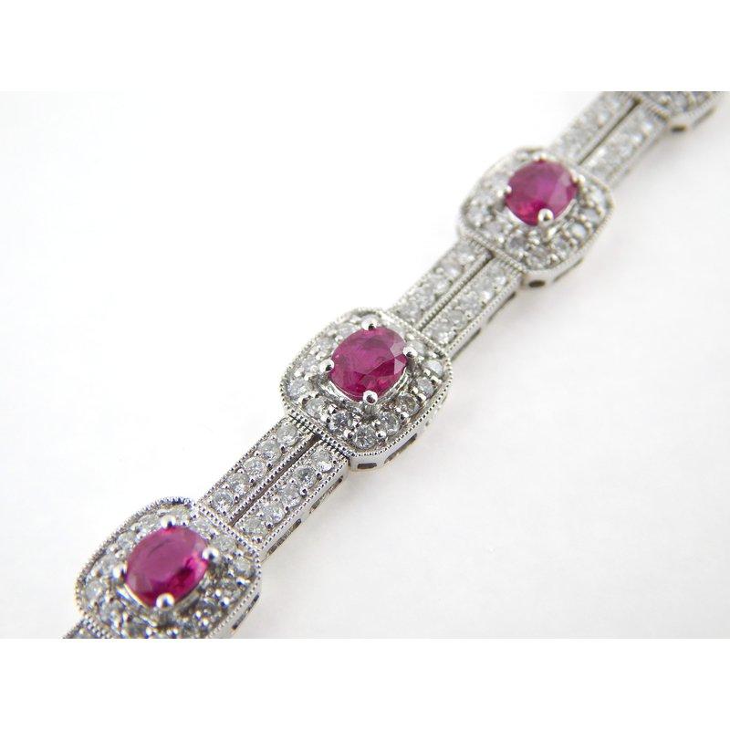 WS Creations Ruby and Diamond Bracelet
