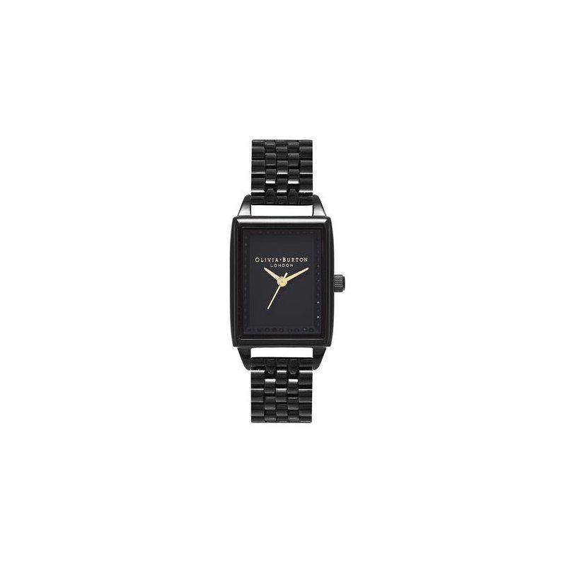 Olivia Burton Classic Sparkle Tank Gloss Black Bracelet Watch
