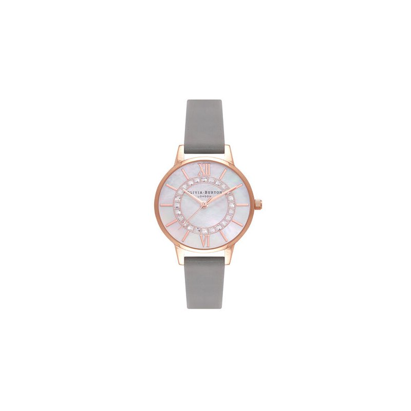 Olivia Burton Sparkle Wonderland Midi Grey & Rose Gold Watch