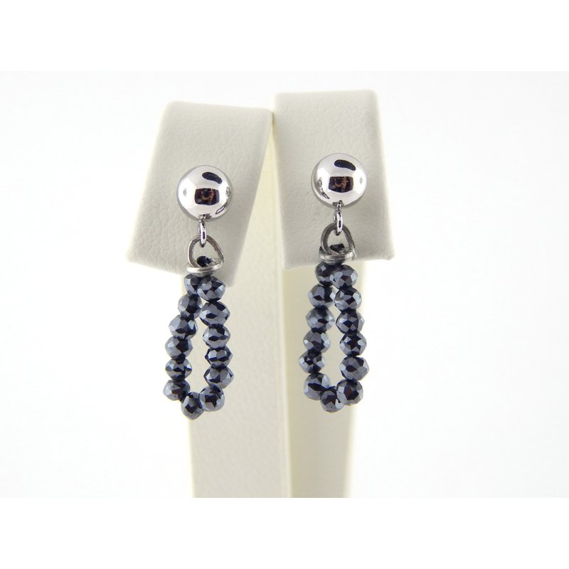 WS Creations Black Diamond Earrings