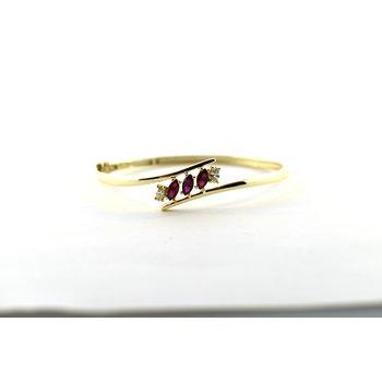 ruby and diamond bangle