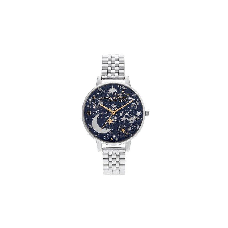 Olivia Burton Celestial Navy Sunray, Gold & Silver Watch