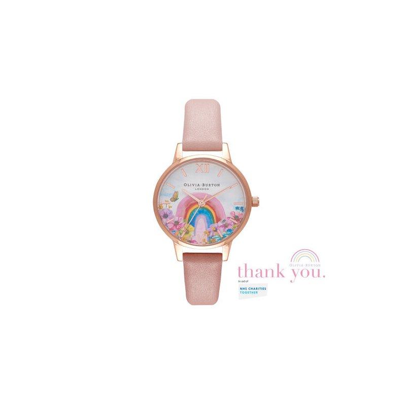 Olivia Burton Rainbow Of Hope Midi Dial Dusty Pink & Rose Gold Watch