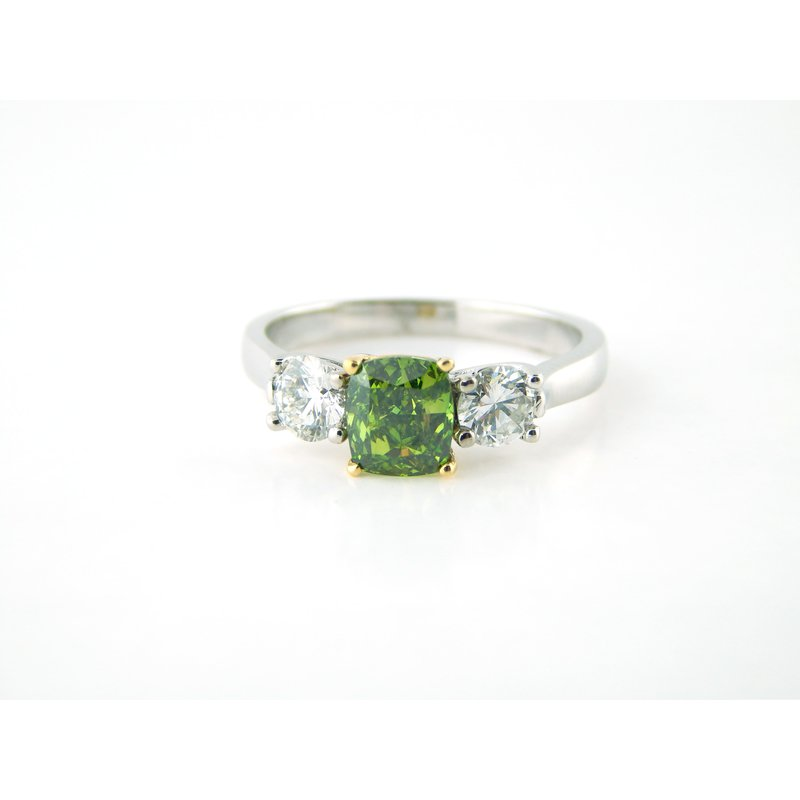 WS Creations Green Diamond Ring